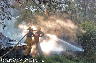 White Oak Road fire, July 2008