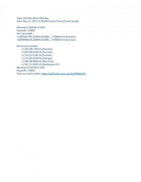 05/12/2021 Agenda Pg 1
