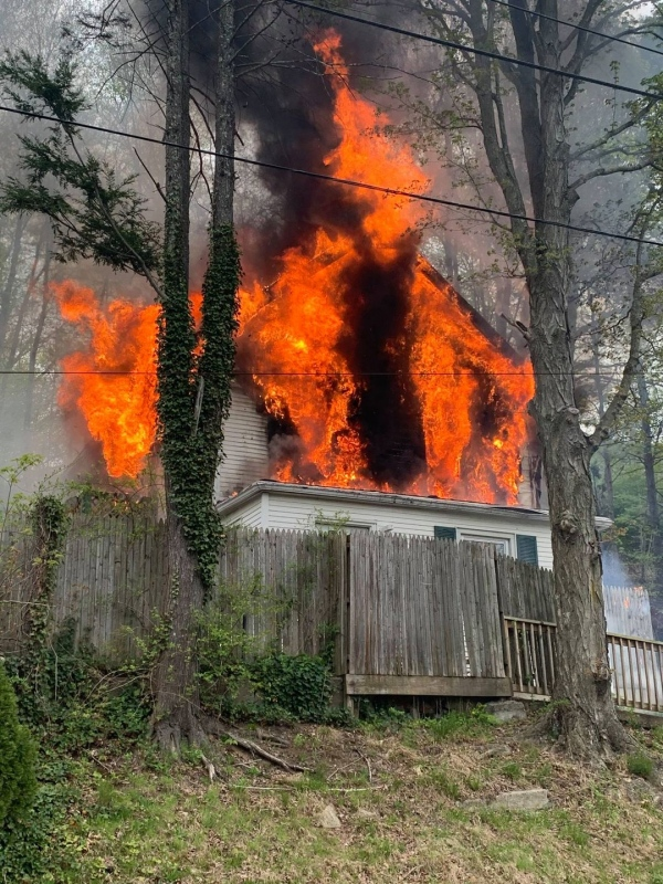 Long Hill Ave, Structure Fire