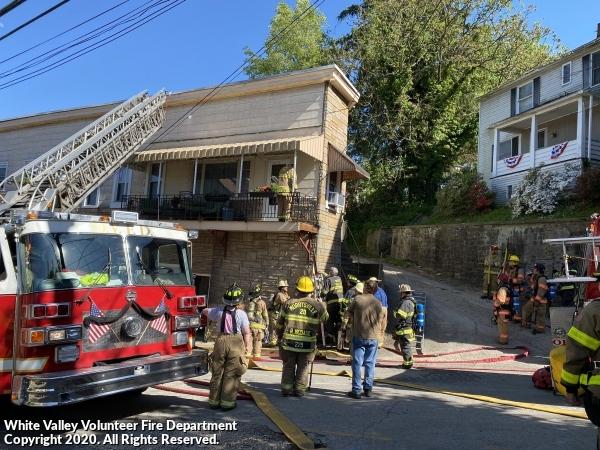 Porch Fire - Lincoln Ave.